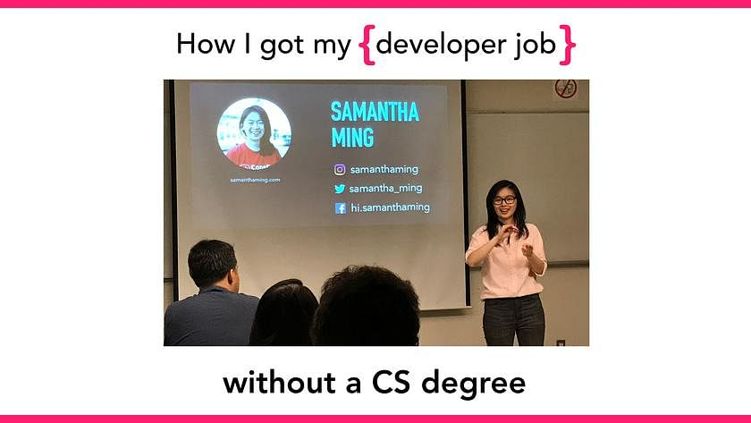 Article Cover of How I Got My First Developer Job Without a CS Degree