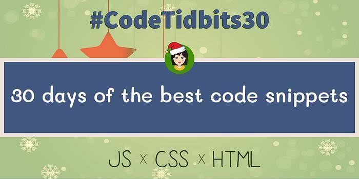 CodeTidbits30