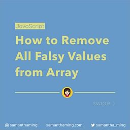 How to Remove All Falsy Values from an Array in JavaScipt
