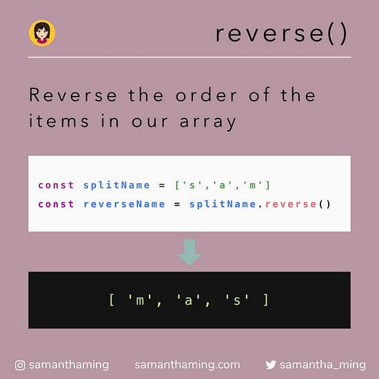 Javascript reverse function