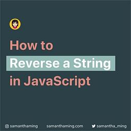 How to Reverse a String in JavaScipt