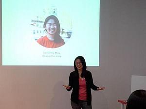 Samantha Ming giving a talk at Google Women Techmakers