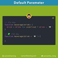 Setting Default Parameters in JavaScript
