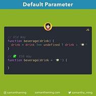Setting Default Parameters in JavaScript