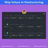 Skipping Values in ES6 Destructuring