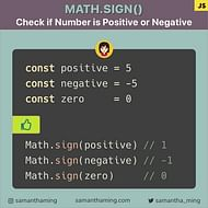 Math.sign: How to Check if Number is Negative or Positive in JavaScript