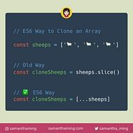 ES6 Way To Clone An Array