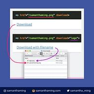 Downloadable Link withm HTML5 Download Attribute