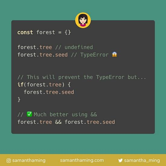 Code snippet on Prevent Object Retrieval TypeError with &&