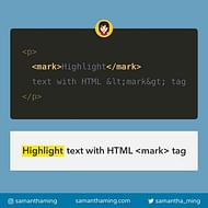Highlight Text With HTML Mark Tag