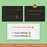 CSS only-child