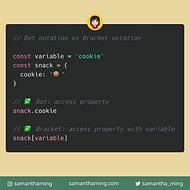 JavaScript: Dot Notation vs Bracket Notation