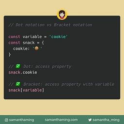 JavaScript: Dot Notation vs Bracket Notation