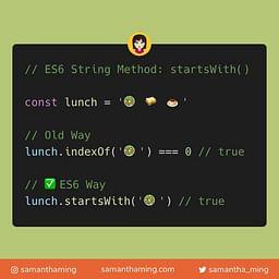 String startsWith Method