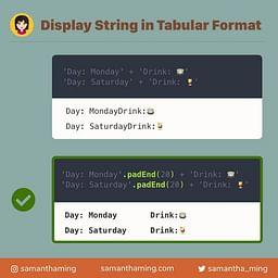 padEnd String Method in JavaScript