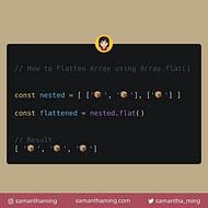 Flatten Array using Array.flat in JavaScript