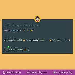 JavaScript String endsWith Method