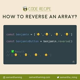 How to reverse an array in JavaScript