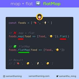 JavaScript Array.flatMap