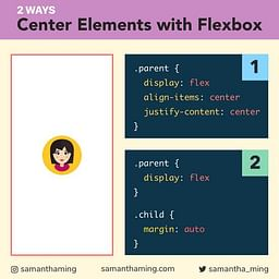 2 ways to Center Elements with Flexbox