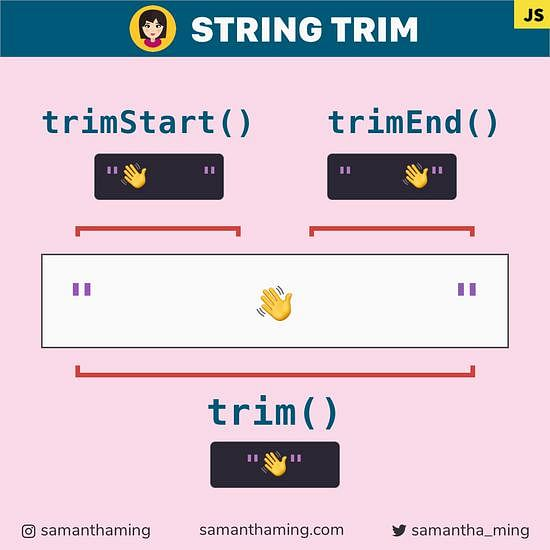 Code snippet on String Trim in JavaScript