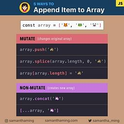 5 Way to Append Item to Array in JavaScript