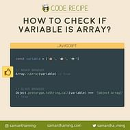 How to check if Variable is an Array in JavaScript