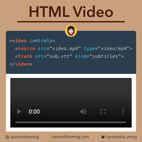 Code snippet on HTML Video