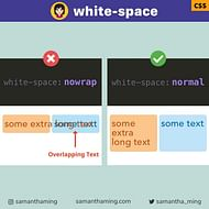 Fix Text Overlap with CSS white-space